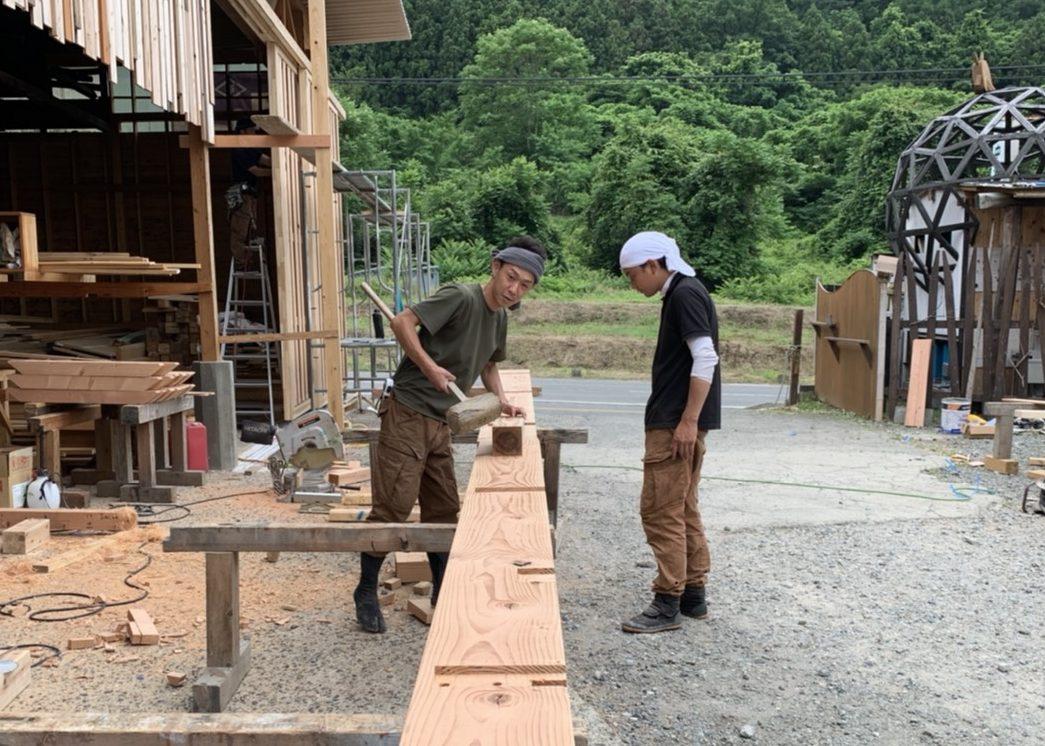 長野市M様邸新築工事 木造建築の技 刻み作業